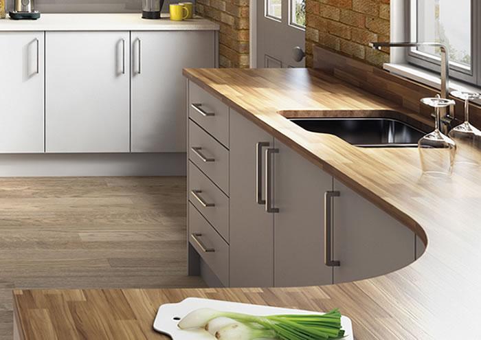 Lastra Light Grey Kitchen Units