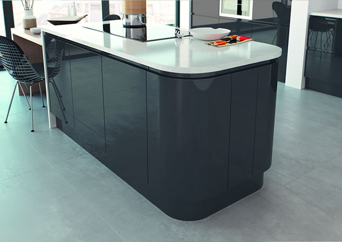 Lucente Anthracite Gloss Sideboards