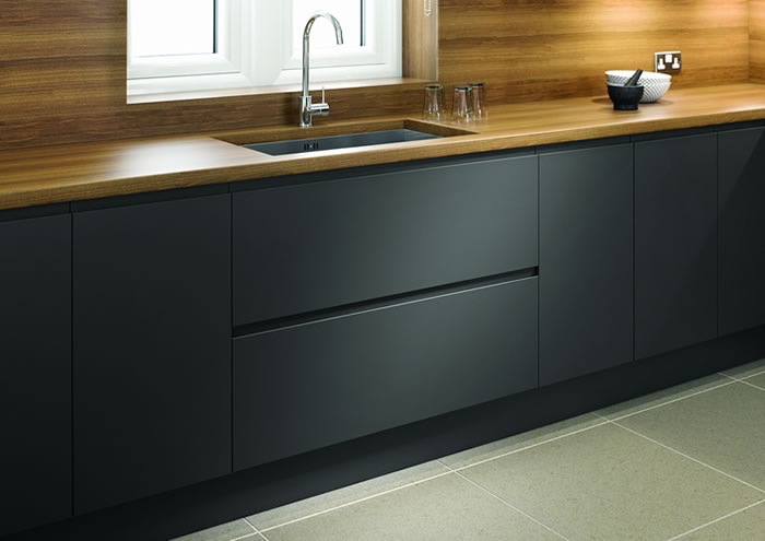 Lucente Anthracite Matt Sideboards