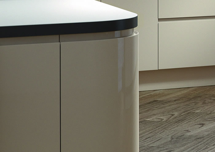 Lucente Stone Gloss Kitchen Sideboards