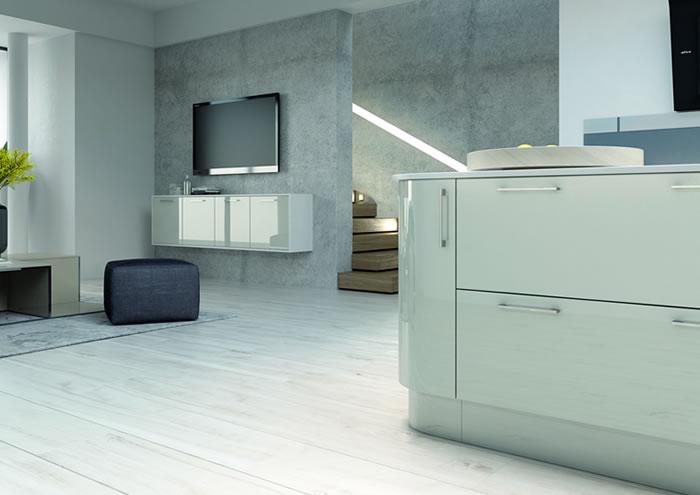 Vivo Gloss Light Grey Sideboards
