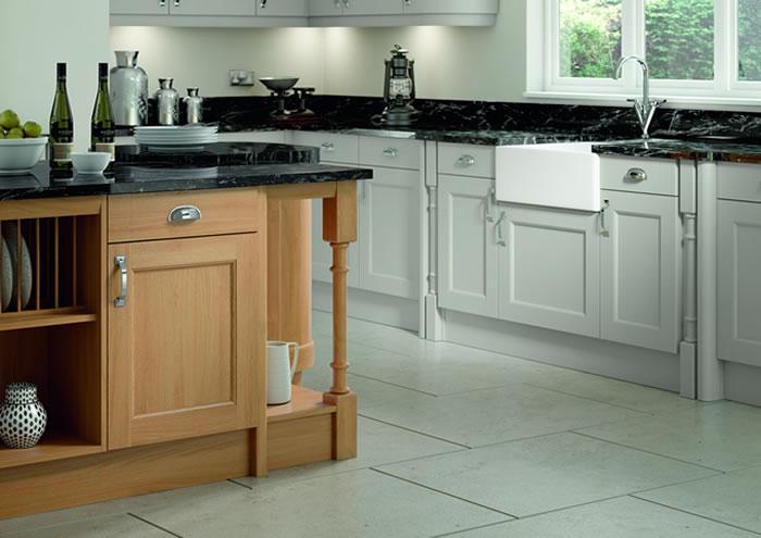 Windsor Light Grey Oak Kitchen Sideboards
