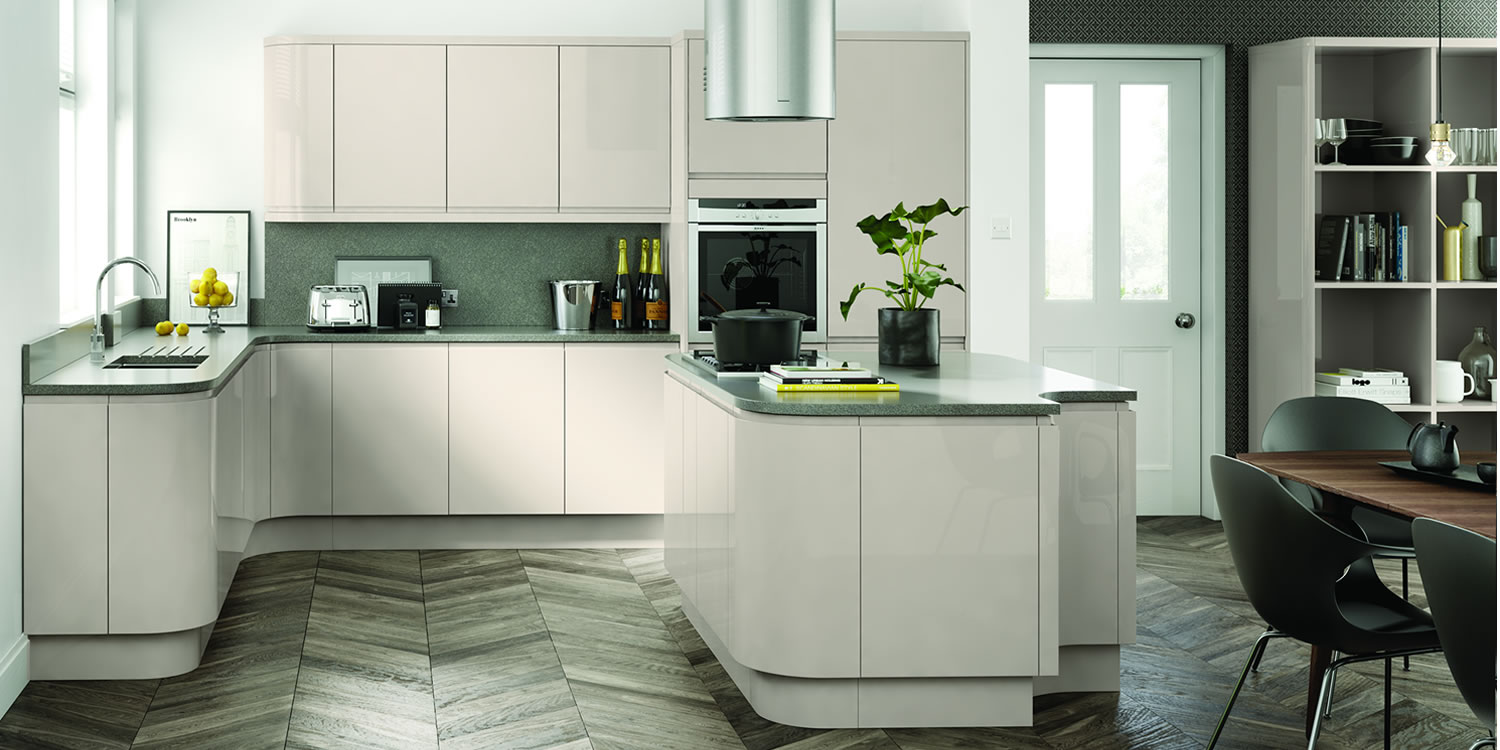 Lucente Cashmere Gloss Kitchens
