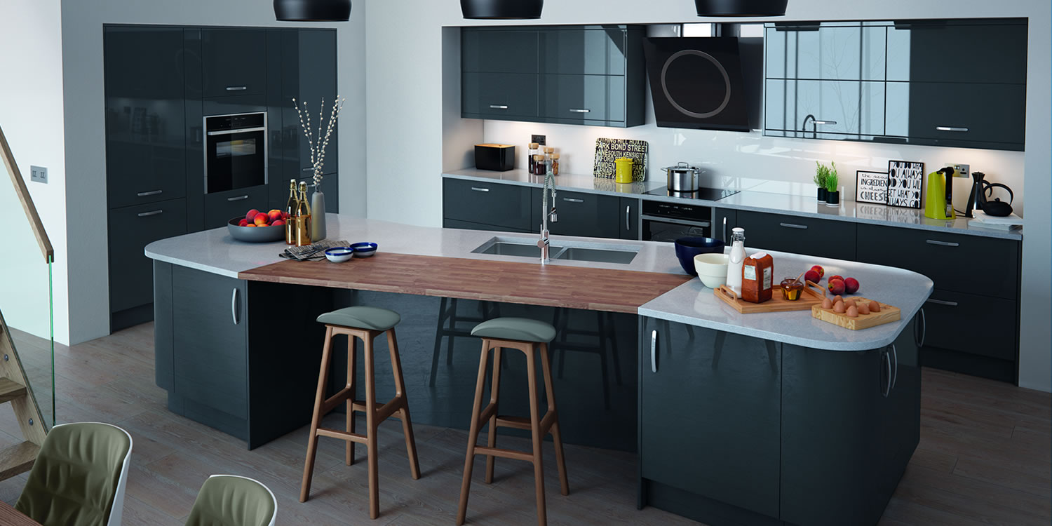 Vivo Gloss Anthracite Kitchens