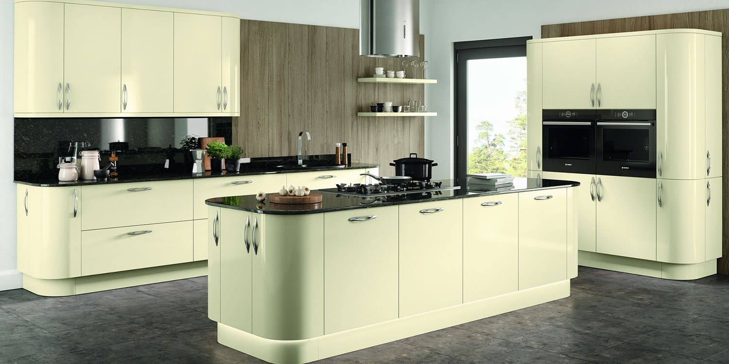 Vivo Gloss Ivory Kitchens