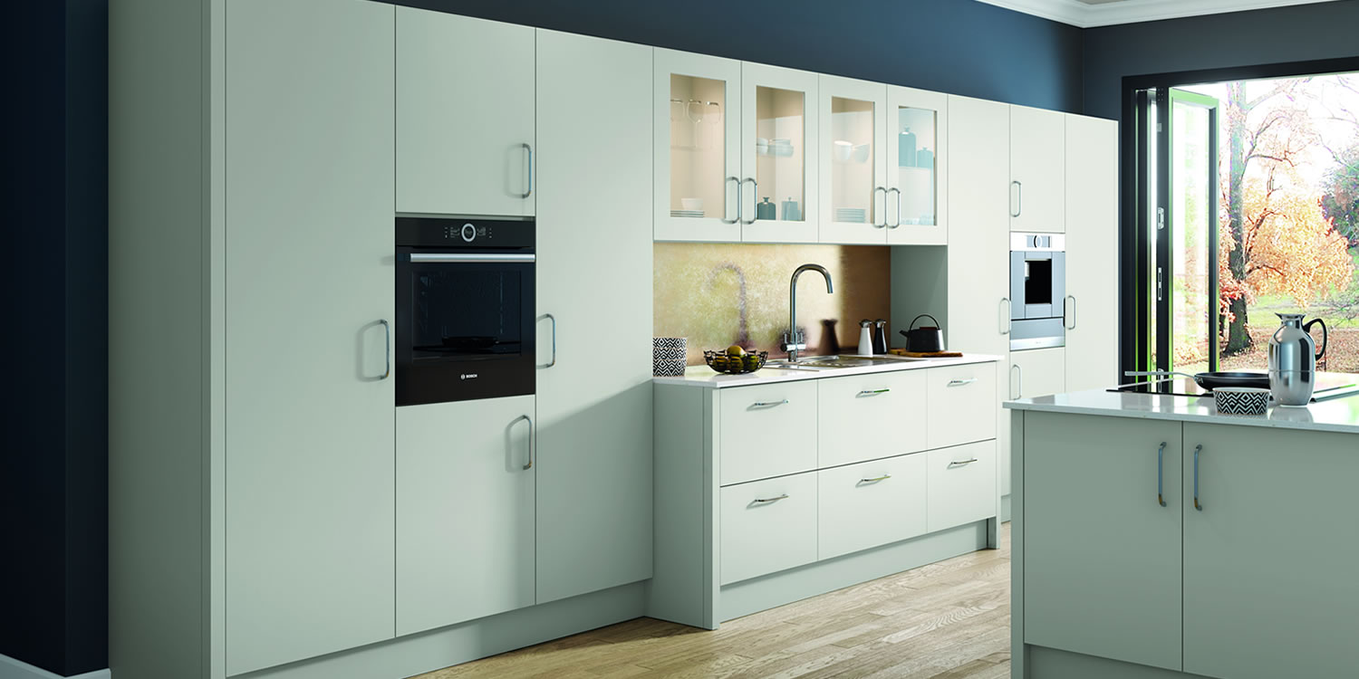 Vivo Matt Light Grey Kitchens