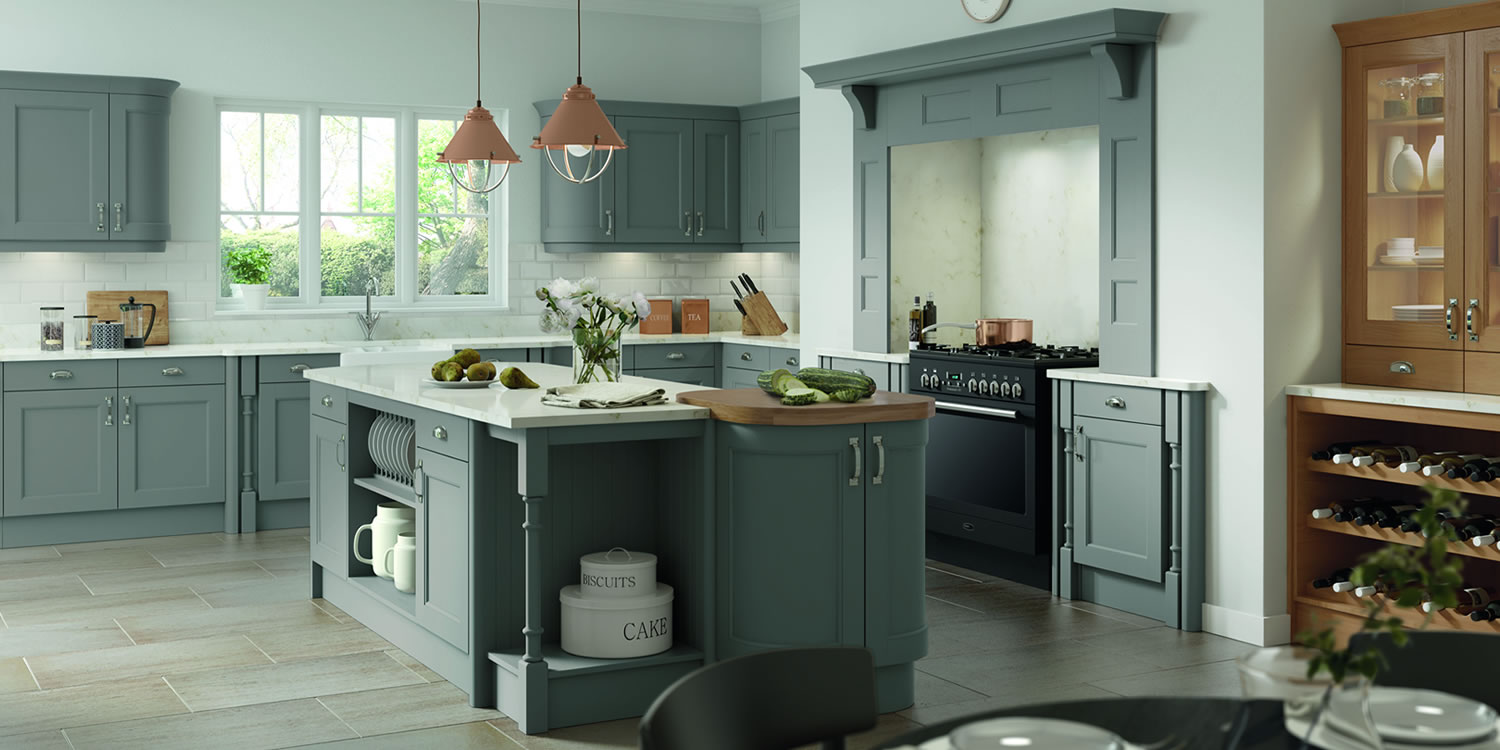 Windsor Dust Grey Oak Kitchens