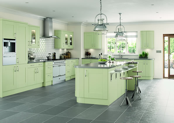 Cartmel Sage Green Kitchens