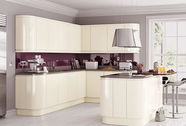 Lucente Cream Gloss Kitchen