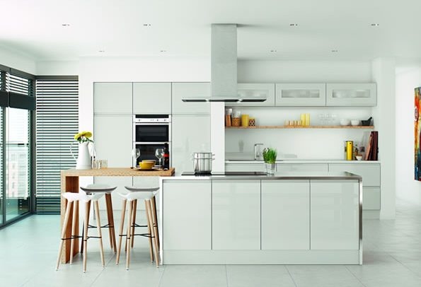 Lucente Light Grey Glow Kitchens