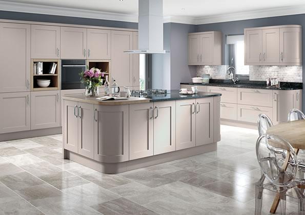 Oxford Cashmere Matt Kitchens, Gray Cashmere Kitchen Cabinets