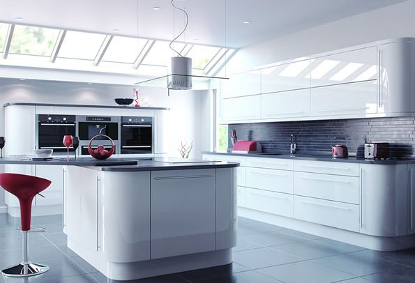 Vivo Gloss White Kitchens