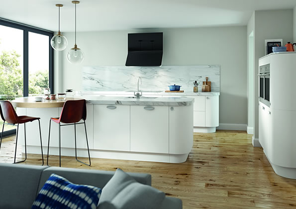 Vivo Matt White Kitchens