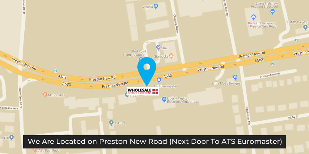 We are located on Preston New Road (next door to ATS)