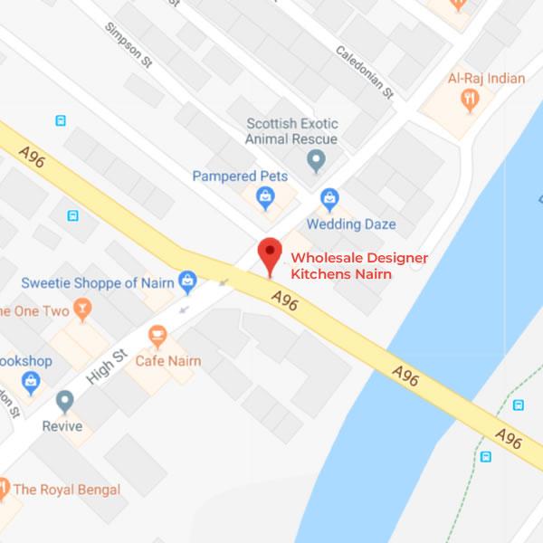 Wholesale Designer Kitchens Nairn are located at 2 Bridge Street, Nairn, Highland, Scotland, IV12 4DD